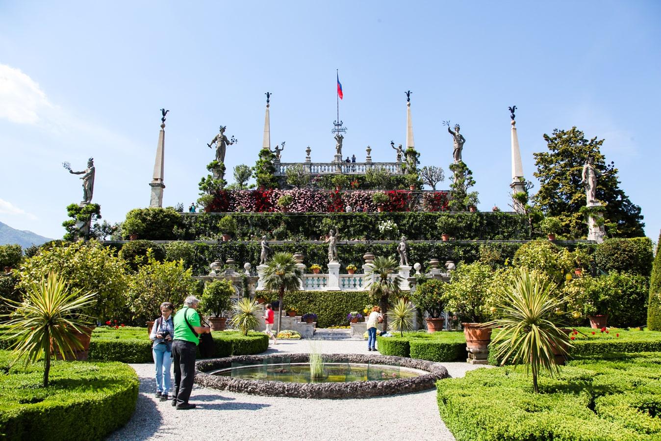 фонтан Боромео, фонтан, фонтан острова Мадре, фонтан в Италии